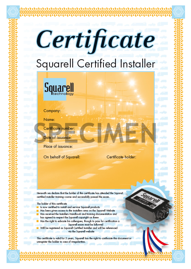 Squarell Certified Installer Course - Squarell Technology