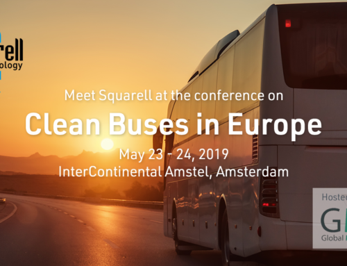Squarell is at the Clean Buses in Europe Conference 2019 in Amsterdam