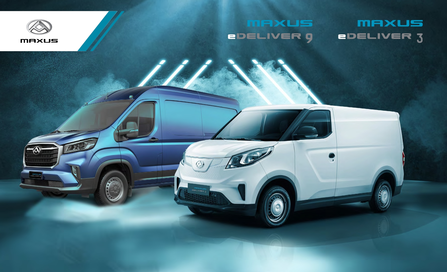 SAIC Maxus eDeliver 3 & eDeliver 9 vans